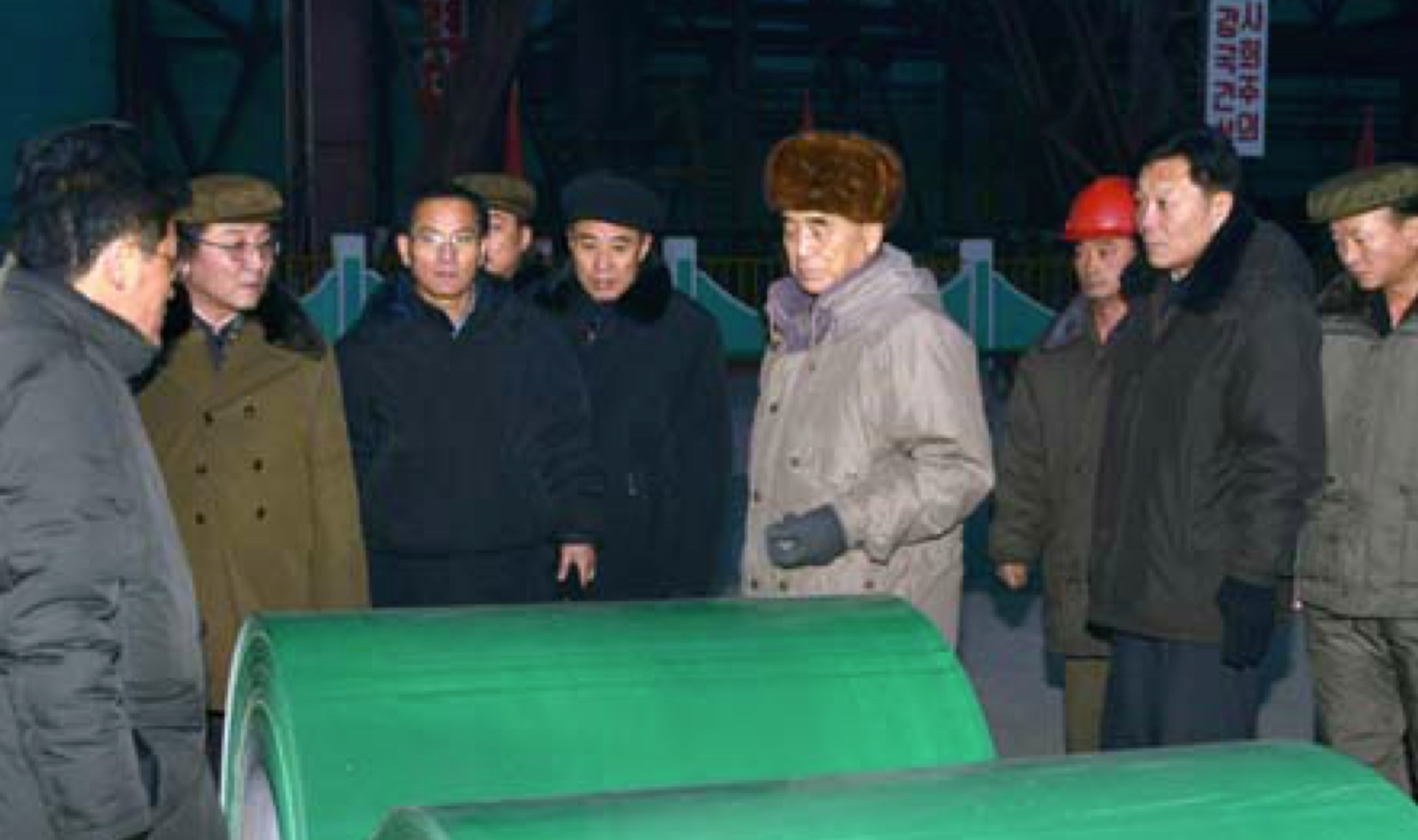 DPRK Premier Pak Pong Ju tours the Kim Cha'ek Iron and Steel Complex (Photo: KCNA).