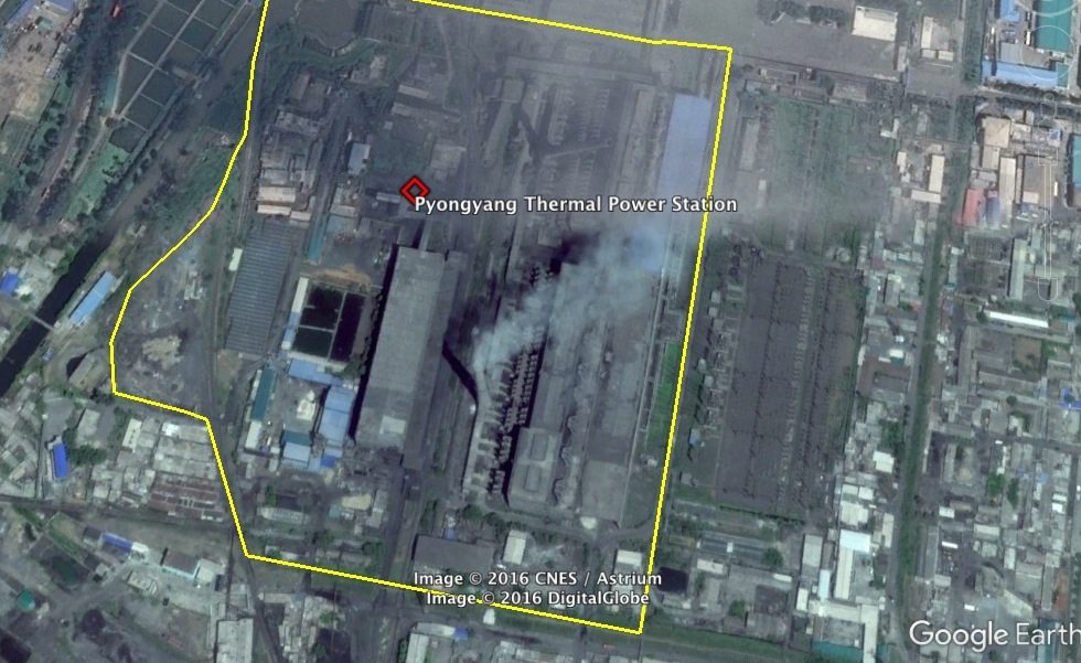 View of the Pyongyang Thermal Power Station (Photo: Google image).
