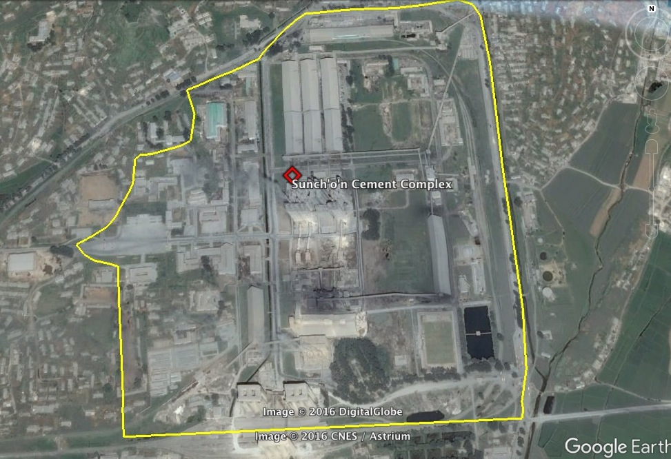Sunch'o'n Cement Complex (Photo: Google image).
